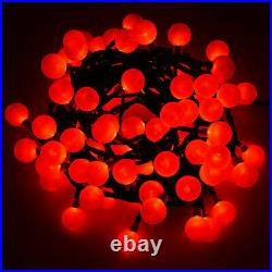 100/200 Battery Operated Red Berry Ball Christmas Xmas Fairy String Lights BNIB