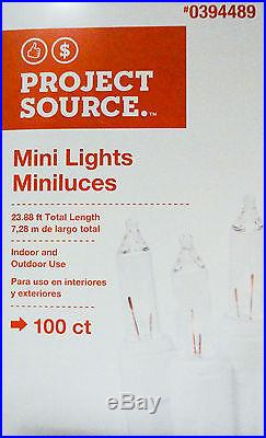 100 Clear Mini Lights Light Set White Wire for Christmas Wedding and Parties 22