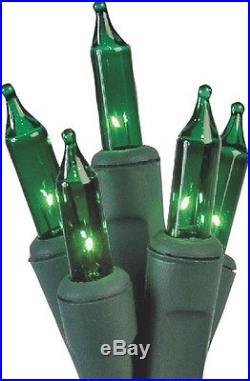 100 Mini Green Light Set, No U10Y082E, Holiday Trim