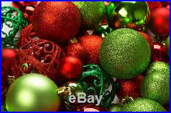100 Shatterproof Christmas Ornament Balls For Christmas Tree Decoration Gift