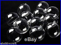 100mm Clear Pplasti Fillable Ball Ornaments -Great Kid Craft Project-12 Pack