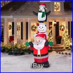 10FT Inflatable Santa Snowman Penguin Christmas Holiday Outdoor Yard Decoration