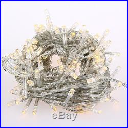 10M 100LED Warm White String Fairy Wedding Light Lamp Xmas Party Wedding Decor