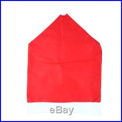 10PCS Party Table Santa Clause Red Hat Chair Back Covers for Christmas Dinner