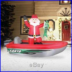 10′ Airblown Fishing Santa Christmas Inflatable