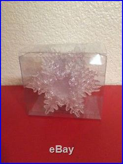 10 Clear Snowflakes Christmas Tree Ornaments Plastic Winter Decoration Decor