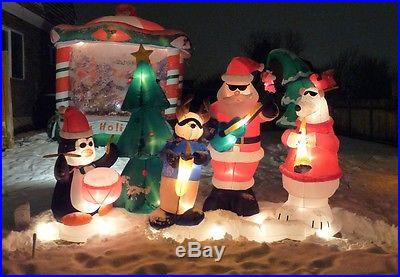10 Feet Long Airlbown Inflatable Santa's Jazz Band Light Show