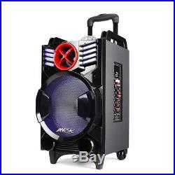 10 Outdoor Bluetooth Speaker Mic w RGB Magic Ball Effect Light Xmas Party DJ