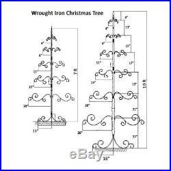 10′ Patch Magic Wrought Iron Ornament Tree, Christmas Tree Nwob