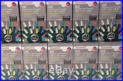 10 Sylvania 100 LED Mini White/Multi Synchronized Color Changing Christmas Light