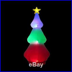 10 ft. Inflatable Red Green Blue Tree Color Changing Airblown Christmas Decor