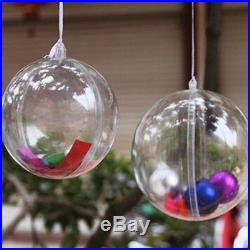 10cm Christmas Decorations Hanging Ball Bauble Candy Ornament Xmas Tree Outdoor