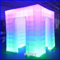 110V Inflatable 8 LED Photo Booth Lighting Tent 2.5M Weddings Birthdays Events