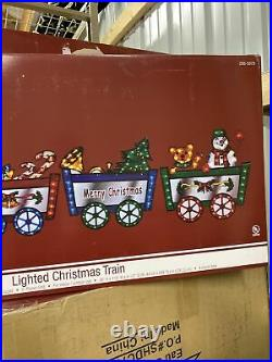 118 Lighted Santa Holiday Train Outdoor Christmas Decoration Yard Holographic