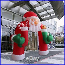 11 FT Led Lighted Santa Arch Outdoor Indoor Christmas Yard Decoration Display