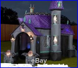 12.5 tall Haunted House. Halloween Gemmy Airblown Inflatable. Works Great