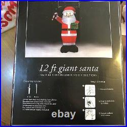 12 Foot Giant Santa Indoor/Outdoor Yard/Home Christmas Decor New In Box