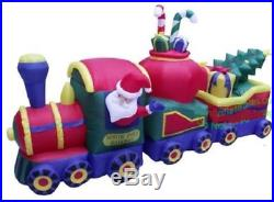 12 Foot Santa North Pole Train Airblown Inflatable Christmas Yard Decoration