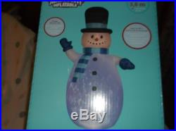 12 Ft CHRISTMAS PROJECTION KALEIDOSCOPE SNOWMAN INFLATABLE HOLIDAY YARD DECOR