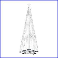 12' Ft. Outdoor Warm White LED Christmas Tree Cone Light with Wireless Remote 144