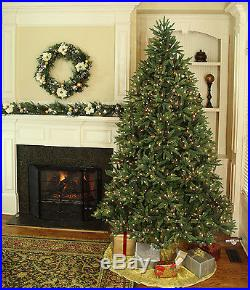 12′ Full Noble Fir Tree Warm White LED Lights artificial holiday christmas Xmas