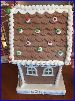 12 Illuminated Gingerbread Cottage with Timer by Valerie Parr Hill