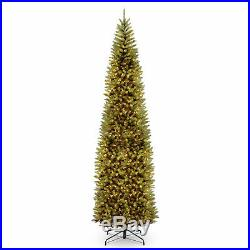 12′ Kingswood Fir Pencil Tree with 800 Clear Lights Christmas