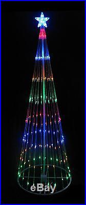 12′ Multi-Color LED Light Show Cone Christmas Tree Lighted Yard Art Decoration