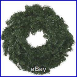 12 Pk Canadian Pine 24 Green PVC Artificial Christmas Door Wall Wreath 442000