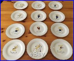 12 Pottery Barn Reindeer Appetizer Salad Dessert Plates