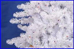 12′ Pre-lit Crystal White Artificial Christmas Tree Multi Lights