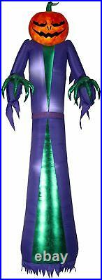 12′ Projection Airblown Fire & Ice Jack O Reaper Giant Halloween Inflatable