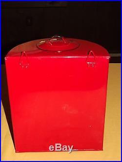 12 Red Tin Metal Wall Mount Spigot Water Dispenser Decoration