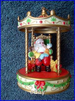 (12) SANTA CLAUS CHRISTMAS TREE ORNAMENTS DECORATIONS