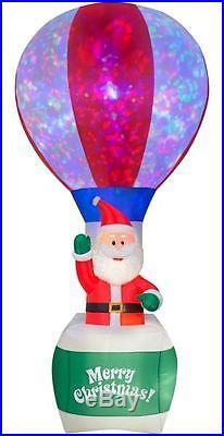 12′ Santa in Hot Air Balloon Christmas Inflatable Airblown Yard Decor Gemmy
