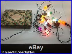 12 VERY RARE NEW VINTAGE FIGURAL CHRISTMAS LIGHTS WITH CABLE ALL WORKING