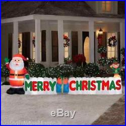 12' W Giant Inflatable MERRY CHRISTMAS SIGN Santa Gifts Elf Outdoor Decoration