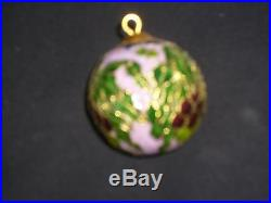 12 boxed cloisonne christmas tree decorations