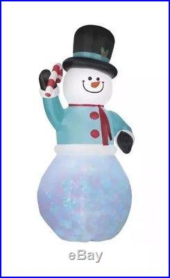 12 ft Airblown Inflatable Swirling Kaleidoscope Giant Snowman Christmas Decor