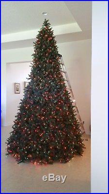 12 ft pre lit christmas tree colored lights