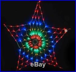 130LED 45CM Star Net Light Multi Coloured Flashing Christmas Light Xmas XM0592