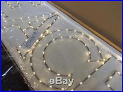 $149 RH Restoration Hardware Starry Lights Words PEACE Indoor Outdoor Clear NWT