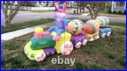 14′ Air Blown Inflatable Easter Bunny Eggs Train Lighted Yard Decor IN STOCK