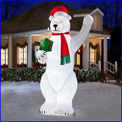 14 Ft Giant Polar Bear Airblown Inflatable Gemmy 87560