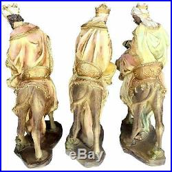 14 Inch Three Wise Men 3 Kings Tres Reyes Magos Nativity Camel Statue Sculpture