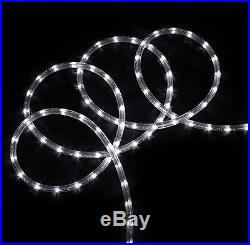 150′ Commericial Grade Pure White LED Indoor/Outdoor Christmas Rope Lights on a