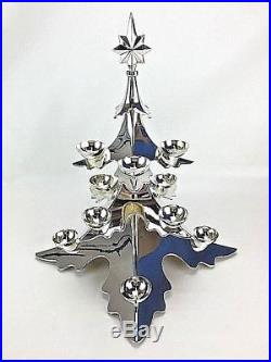 15 3D Silver Plated Christmas Tree 12 Ball Candle Holder Godinger Pottery Barn
