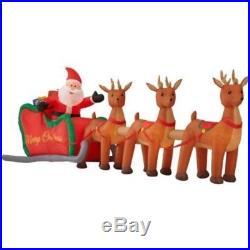16 FT Santa Sleigh Reindeer Christmas Inflatable Lighted Yard Decor Air blown
