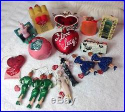 16 I LOVE LUCY Christmas Tree Ornament Set Lot Lucille Ball Kurt Adler Hallmark