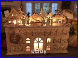 17 Alpine Chic LED Wooden Advent Calendar Christmas NWT
